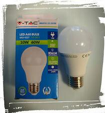 Lampadina LED E27 10W 6400K  806 Lm Bianco Freddo - SKU 4227 V-TAC