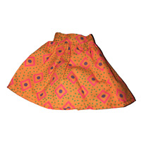 SKIRT ~BARBIE DOLL MADE TO MOVE BMR1959 ORANGE PLEATHER SKIRT BOTTOM ACCESSORY