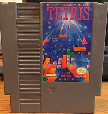 Tetris Nintendo NES Game Cartridge Cleaned Tested Authentic OEM