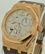 Audemars Piguet ROYAL OAK DUAL TIME 18K Pink Gold 39m Watch 26120OR.OO.D088CR.01