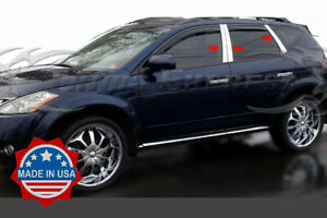 fit:2003-2008 Nissan Murano 6Pc Chrome Pillar Post Stainless Steel Trim