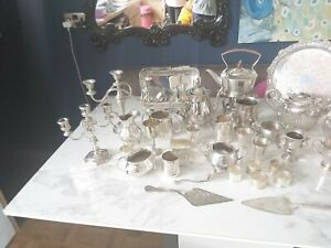 An Antique/vintage Silver Plated Job Lot.1800.s_1900.s.with many makers names.