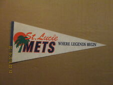 Florida State League St.Lucie Mets Where Legends Begin 1980's Baseball Pennant