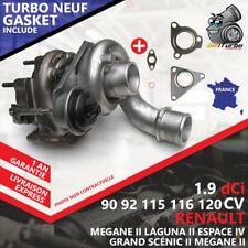 Turbo NEUF RENAULT GRAND SCÉNIC II 1.9 dCi 88 Kw 120 Cv AVEC JOINT GASKET 708639