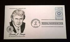 Presidential Inauguration Cover Cachet 2017 - Trump - World Stamp Show Forever
