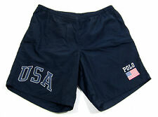 90S VTG POLO SPORT RALPH LAUREN USA FLAG SWIM TRUNKS SHORTS SPELLOUT 92 93 PWING