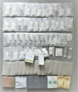 100s Cotton Balls/Pads/Swabs + Nail File + Q-Tips In Vanity Kits Well Packed/Box