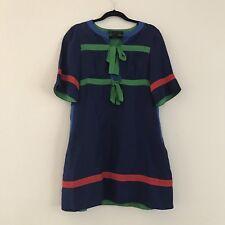 Women's Marc By Marc Jacobs 100% Silk Color Block Tie Front Dress, Sz Medium