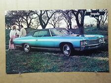 "True Vintage Car Poster Dealer AD 1971 CHEVROLET IMPALA  18"" x 11"""