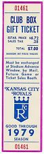 1979 George Brett  Ticket Pass Hit Cycle/2 HR/ LL in Hits 212 At  KC Royals
