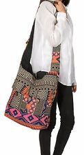 Pink Hobo Large Shoulder Bag Messenger Crossbody Tote Travel Shopping Beach Boho