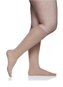 Berkshire Trouser Socks 3 Pack Hosiery Ultra Smooth 6424 Women's Plus Nude New