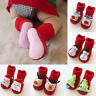 Baby Girl Boys Anti-slip Socks Christmas Floor Slipper Shoes Boots Step Socks FS
