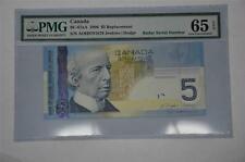 CANADA $5 2006 AOH9781879 - SNR REPLACEMENT & RADAR - PMG Graded GEM UNC 65!!!