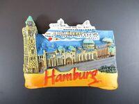 Hamburg St.Pauli Landungsbrücken Germany Souvenir Magnet,Polyresin Deutschland