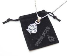 NEW! AUTH THIRTEEN DESIGNS 925 KP-20M 13 PENDANT + SILVER NECKLACE MADE IN JAPAN