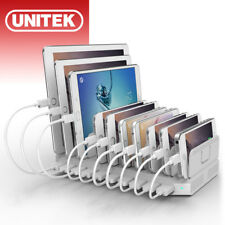 UNITEK 10 Port 60W USB Universal Charging Station Mix2.4A Cell Phone Pad Charger