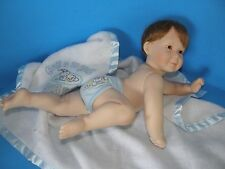 1994 Ashton Drake Galleries Porcelain Boy Doll In Blanket Signed Titus Tomesku
