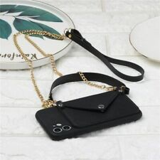 Cell Phone Case Hanging Shoulder Card Holder Bag Mobile Cover Chain Accessories