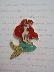 WDW Year 2000 Walt Disney World ARIEL SITTING The Little Mermaid Character Pin