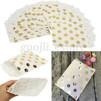 25/50pcs Foil Gold Polka Dot Paper Bag Candy Favor Wedding Birthday Gift Decor