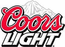Coors Light Beer Sticker Decal Vinyl Logo 4 stickers