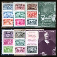 Spain #2677 - #2682 1992 Voyages of Columbus Specimen Souvenir Sheets 9 items