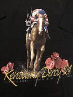 Vintage 1998 Kentucky Derby T-Shirt Men Size XL Black New