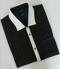 Paul Smith Shirt Size 15.5 Medium Black Polka Dots SLIM FIT