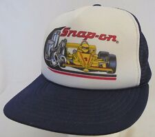 Vintage Snap-On Tools Snap Back Hat Trucker Mesh Racing Car Cap