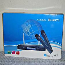 New EL5571 Professional Digital Wireless Dual Microphone System w/ Receiver