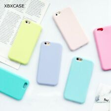 Macarons Color Case iPhone Macaron Candy Colour Cover Pastel Matte Soft Silicone