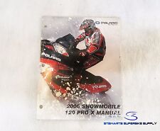 POLARIS OEM 2006 120 PRO X SNOWMOBILE MANUAL 9919766 NEW IN PACKAGE