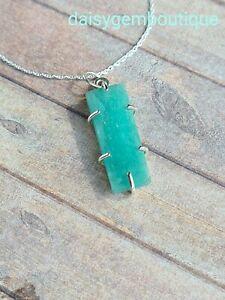 Amazonite Pendant, Sterling Silver Amazonite Necklace, Natural Amazonite, Birthd
