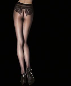 SHAYA Collant fantaisie voile noir sexy femme 20 deniers tailles 2 4 FIORE