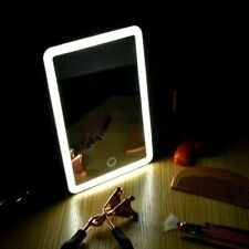 LED Touch Screen Makeup Mirror Tabletop Lighted Cosmetic Vanity 180° Rotation