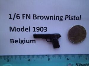 F5    1/6 Homemade WWI WWII FN Browning M1903 Pistol Belgium