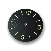 36.3MM Luminous Stainless Steel Black Sterile Watch Dial Fit For 6497 Movement