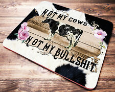 FUNNY Cow Quote Mouse Pad Farm Animals Office Desk Decoration Accessories