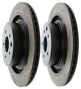 STOPTECH REAR SLOTTED BRAKE ROTORS FOR NISSAN 370Z INFINITI G37 SPORT G37S 350MM