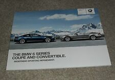BMW 6 Series Brochure 2009 630i 650i 635d Coupe Convertible