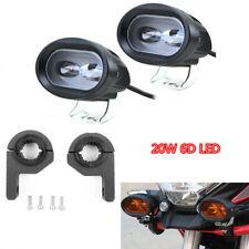 1 Pair Motorcycle 6D Headlight Lamp Fog Light Spot Working Spotlight 20W Holder