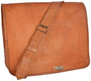 """18"""" First Choice Leather Vintage Messenger Shoulder Laptop Bag Briefcase Satchel"""