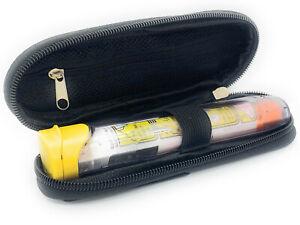 ICE Medical Black/Grey Single Epipen Syringe Case - Allergies Diabetes Inhalers