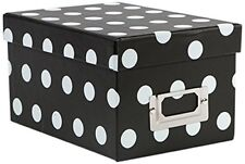 American Crafts Mini Boxes Polka Dots Black Die Cuts with a View