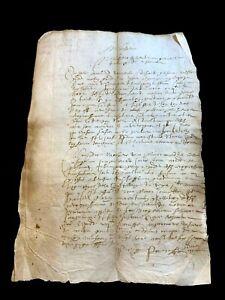ANTIQUE MANUSCRIPT 1611