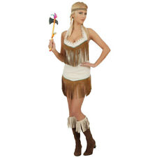 Ladies Sexy Indian Girl Fancy Dress Costume Pocahontas Native American Squaw