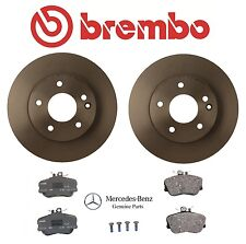 Mercedes C230 W202 Set of Front Left & Right Brembo Brake Discs Genuine Pads