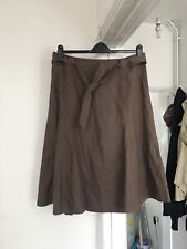 Orvis Size Uk 16 Linen Mink Skirt.   (a16)