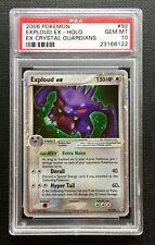 Pokemon PSA 10 Exploud Ex Holo Ex Crystal Guardians #92/100 Gem Mint